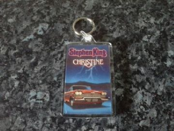 Christine Jumbo Keyring. Stephen King Book Art. Horror